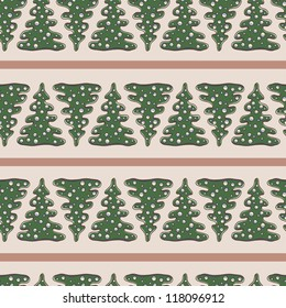 Beautiful seamless pattern with fir tree Christmas and New Year designs. Seamless pattern can be used for textiles, wrapping paper, wallpaper, pattern fills, web page background, surface textures.