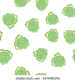 Beautiful Seamless pattern with flowers green. Can be used for printing on packaging, bags, cups, laptop, box, etc. Pattern under the mask. Vector.