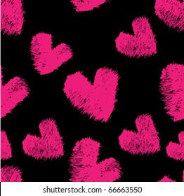 Beautiful seamless pattern with hearts, it is possible to fill any any contour