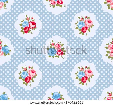 Terrific Beautiful Seamless Rose Pattern Illustration Ideal Stock Interior Design Ideas Lukepblogthenellocom