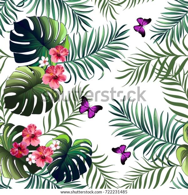hogar Habitaci/ón Decoraci/ón al Aire Libre Restaurante para sof/á Viahwyt Funda de Coj/ín de Verano 45 x 45 cm Dise/ño de Flores Tropicales