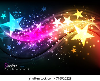 Beautiful shining abstract background -vector illustration