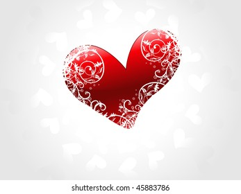 Its a beautiful shiny florel heart abstract for valentine's day.