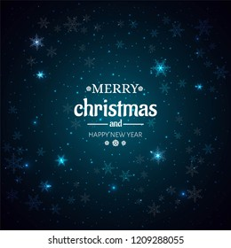 Beautiful Shiny Merry Christmas background