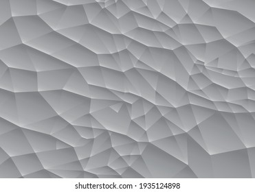 Beautiful Silver Grey gradient background in Polygonal Style Illustration Low Poly Pattern Wallpaper Texture cyberpunk.