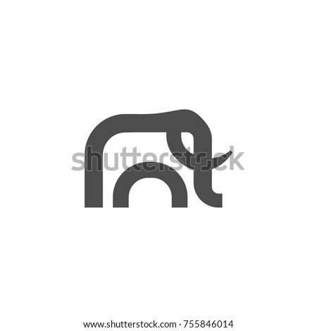 da5865e45e5a Beautiful Simple Elephant Icon Logo Vector Stock Vector (Royalty ...
