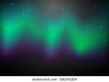 A Beautiful Sky with Northern Light illustration