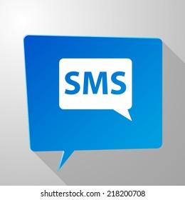 Beautiful sms web icon