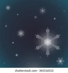 Beautiful Snow Crystal
