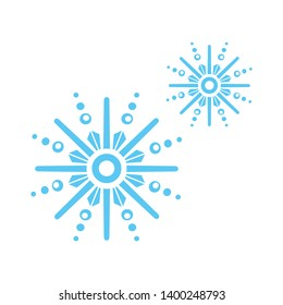 Beautiful snowflake icon. glyph and filled colorful version, winter snowflake filled vector sign. Symbol, logo illustration. Different style icons