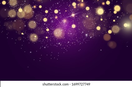Beautiful sparks shine with special light. Vector sparkles. Christmas abstract pattern.