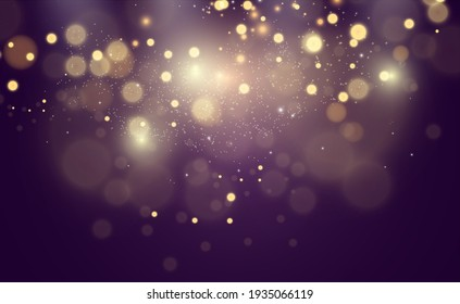Beautiful sparks shine with special light. Vector sparkles on a transparent background. Christmas abstract pattern. A beautiful illustration for the postcard. The background for the image. Luminarie