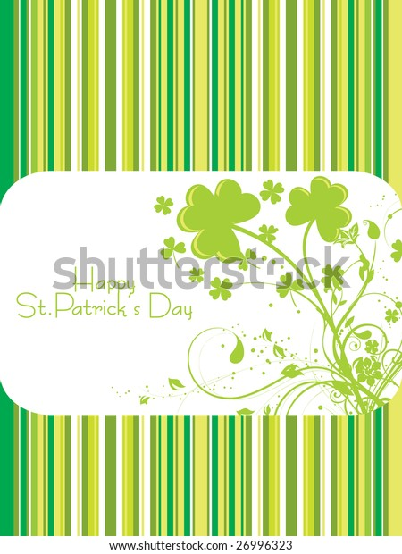 beautiful st. patrick's day greeting card