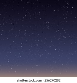 Beautiful starry sky