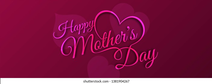 Beautiful stylish Happy Mother's day banner design vector