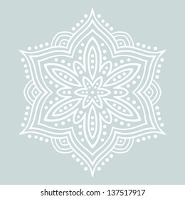 Beautiful stylized flower. Vector illustration