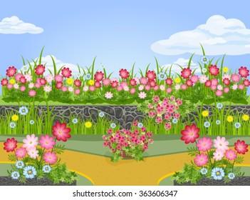 Beautiful summer flower garden
