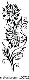 Beautiful Sunflowers. Summer motif.