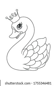 Swan Coloring Cartoon Hd Stock Images Shutterstock