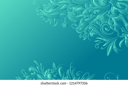 beautiful swirly pattern for design of cards, postcard, covers and more