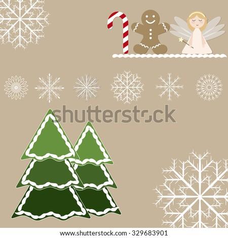 Beautiful Template Christmas Card Christmas Decorative Stock Vector