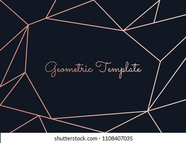 Beautiful template with geometric, line decoration vector