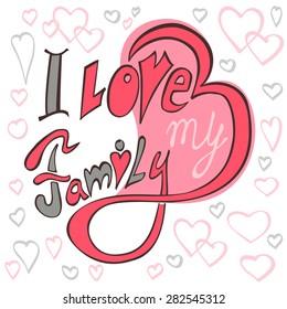 beautiful text I love my family
