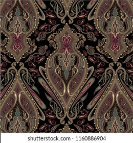 beautiful traditional paisley pattern. paisley pattern for textile design and fabrics