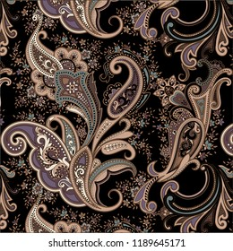 beautiful traditional paisley seamless pattern