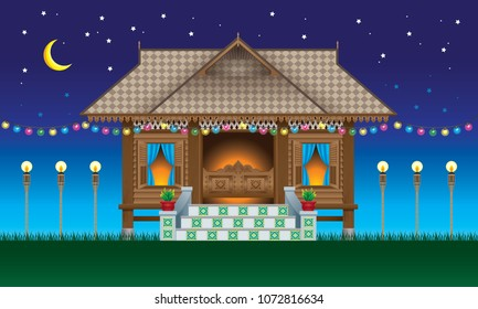 malay traditional images stock photos vectors shutterstock https www shutterstock com image vector beautiful traditional wooden malay style village 1072816634