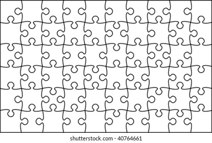 Beautiful transparent jigsaw puzzle vector