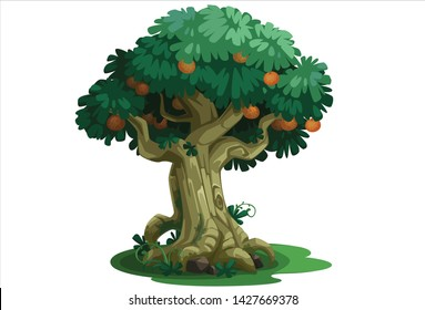 Beautiful tree with fruits concept art