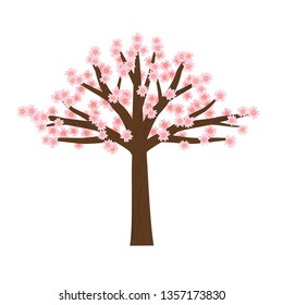 beautiful tree vector with white background