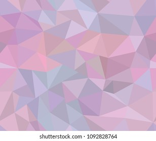 Beautiful Triangle iridescent seamless pattern. Contemporary abstract pink and blue background style