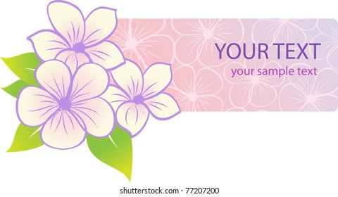 beautiful tropical floral banner. Vector illustration
