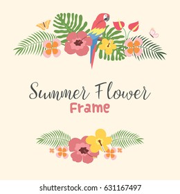 Beautiful Tropical Summer Flower flower Background