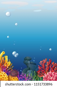 A beautiful underwater view illustration