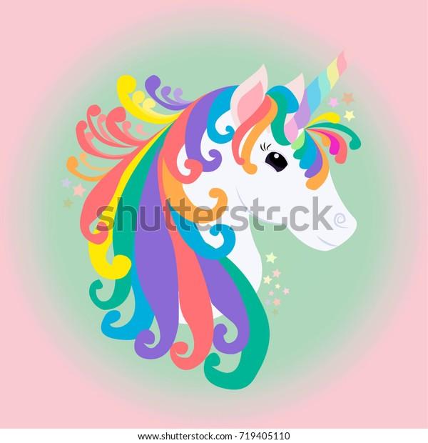Beautiful Unicorn Background Vector Art Design Stock Image