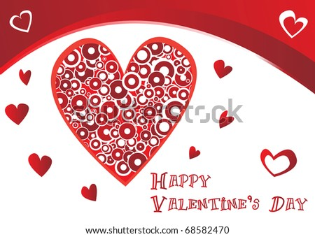 Beautiful Valentines Vector Card Clipart Stock Vector Royalty Free