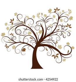 beautiful vector autumn tree design