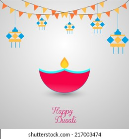 Beautiful Vector Background for Diwali festival.