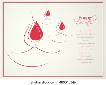 Beautiful Vector Background for Diwali festival .