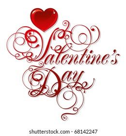 beautiful vector background on Valentine's Day with red hearts
