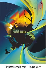 beautiful vector concept with colorful shapes