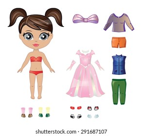 Dress Up Doll Images, Stock Photos & Vectors | Shutterstock
