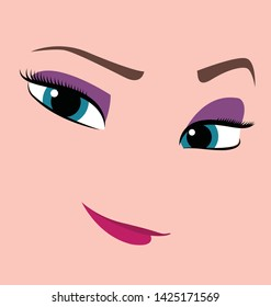 BEAUTIFUL VECTOR FROZEN ELSA EYES AND SMILE