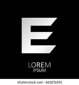 Beautiful Vector Graphic Metal Alphabet / Letter E / Symbol / Logo.