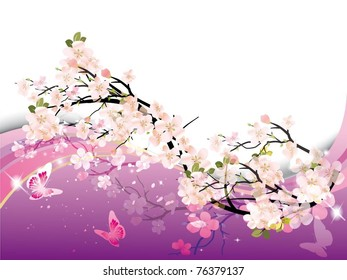 фотообои beautiful vector illustration with colorful butterfly