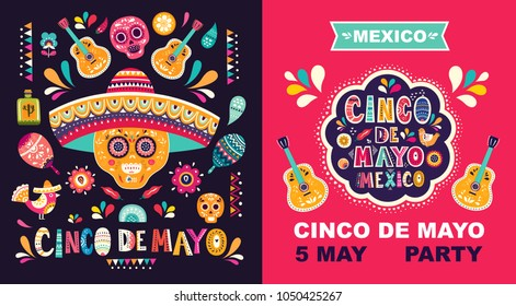 Beautiful vector illustration with design  for Mexican holiday 5 may Cinco De Mayo