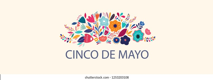 Beautiful vector illustration with design for Mexican holiday 5 may Cinco De Mayo.